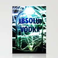 vodka Stationery Cards featuring Absolut Vodka by Rothko