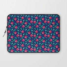 Cranberries pattern (on dark blue background) Laptop Sleeve