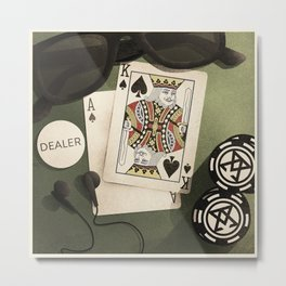 Poker Night Essentials Metal Print