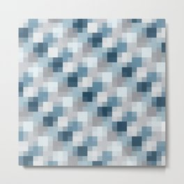 Water Pixels Metal Print