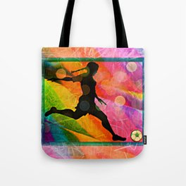 Candy soccer girl Tote Bag