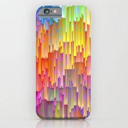 Vibrant Rainbow Cascade Design iPhone Case