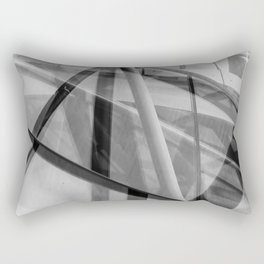 Black and White Modern Architectural Photograph Rectangular Pillow