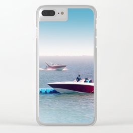 Boats twins Clear iPhone Case