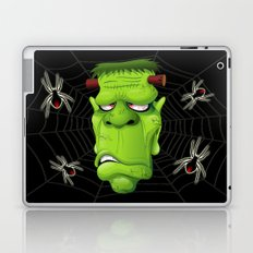 Frankenstein Ugly Portrait and Spiders Laptop & iPad Skin