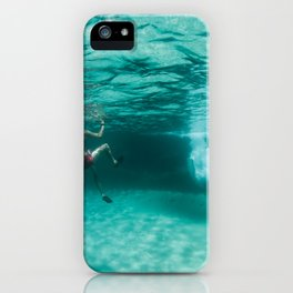 Jeux sous marins / Underwater games iPhone Case