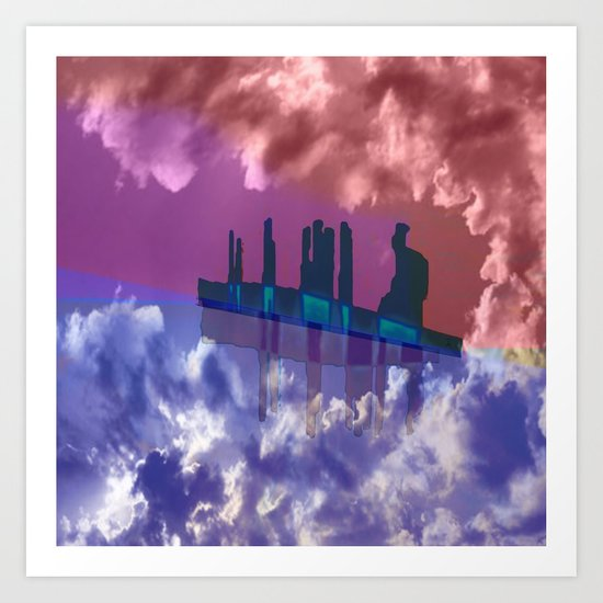 To Venus in a Ship / 28-10-16 Art Print