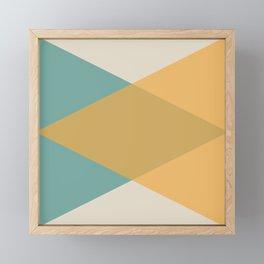Mid Century - Yellow and Blue Framed Mini Art Print