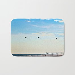 Choppers Over Beach Bath Mat