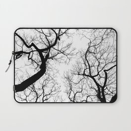 Black and white tree top silhouettes... Laptop Sleeve