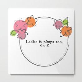Floral - Ladies Metal Print