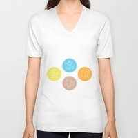 evolution V-neck T-shirts featuring Evolution by Emily