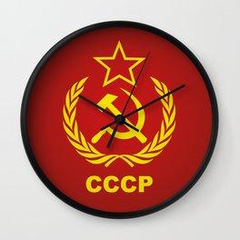 CCCP Cold War Flag Wall Clock