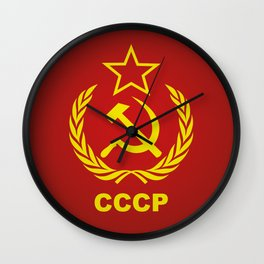 CCCP Cold War Flag Wall Clock