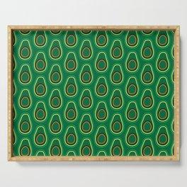 Avocado Pattern (green) Serving Tray