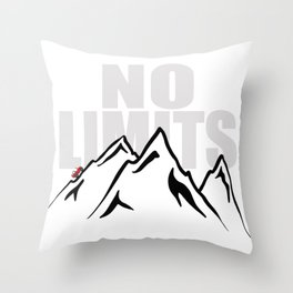 Jeep climb - No limits (Red) Throw Pillow