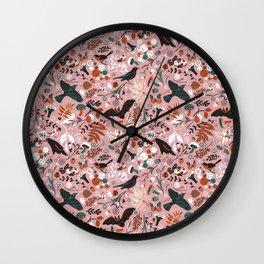 October birds Wall Clock