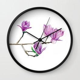 Beautiful magnolia Wall Clock