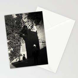 ... a man and his shadow Stationery Cards