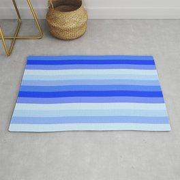 Blue Vertical Stripes Rug