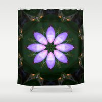 drum Shower Curtains featuring The Rose Petal Drum.... by Cherie DeBevoise