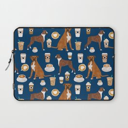 Boxer dog breed coffee pet gifts boxers pupuccino Laptop Sleeve