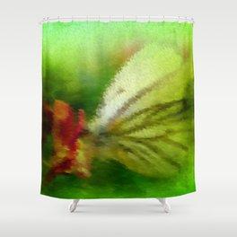 Butterfly's inn version 3 Shower Curtain