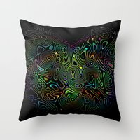trippy Throw Pillows featuring trippy by myepicass