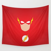 flash Wall Tapestries featuring FLASH by Roboz