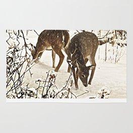 Deer in Snow Rug