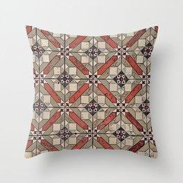Floor Series: Peranakan Tiles 2 Throw Pillow