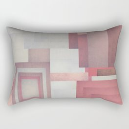 Red Geometric Rectangular Pillow