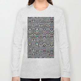 Bohemian colorful pattern, festyval style Long Sleeve T-shirt