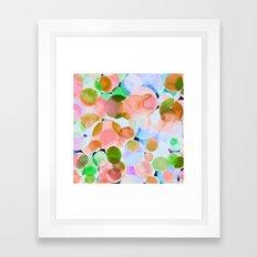 Polka Dot Coral Framed Art Print