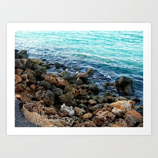 Layers in nature Art Print