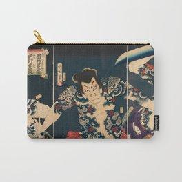 Toyohara Kunichika - Samurai Battle. Carry-All Pouch