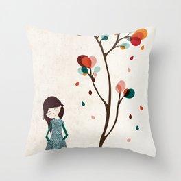 Tree of petals Throw Pillow