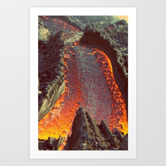 Active Volcano in Guatemala Art Print