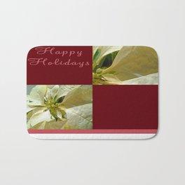 Pale Yellow Poinsettia 1 Happy Holidays Q10F1 Bath Mat
