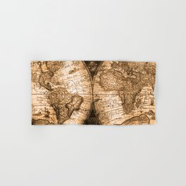 World Map Antique Vintage Maps Hand & Bath Towel