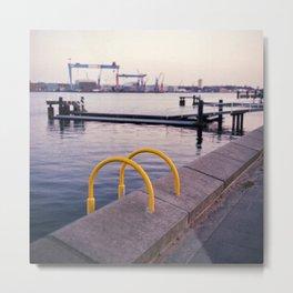 Northern Harbour: Yellow Metal Print