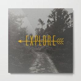 Explore (Arrow) Metal Print