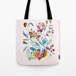 Flowers in the Wind Tote Bag