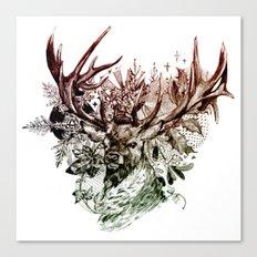 Seasonal Stag Canvas Print