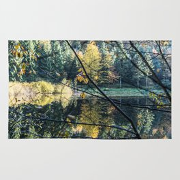 French lake in autumn Rug