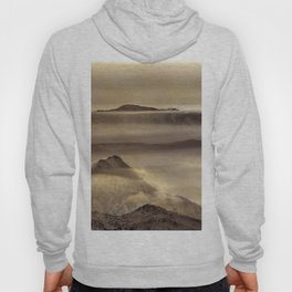 Mist At The Mountains. Painted Photograph Hoody