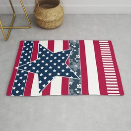 Abstract Patriotic pattern . Rug