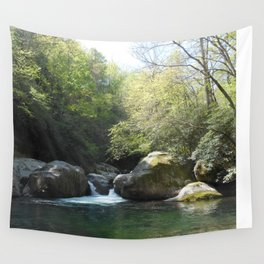 Midnight hole waterfall pool Wall Tapestry