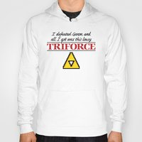 triforce Hoodies featuring Lousy Triforce by Mike Handy Art