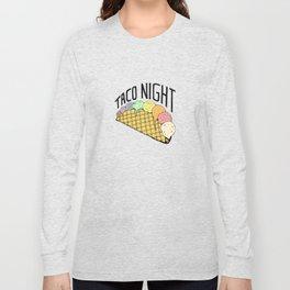 Ice Cream Taco Night Long Sleeve T-shirt